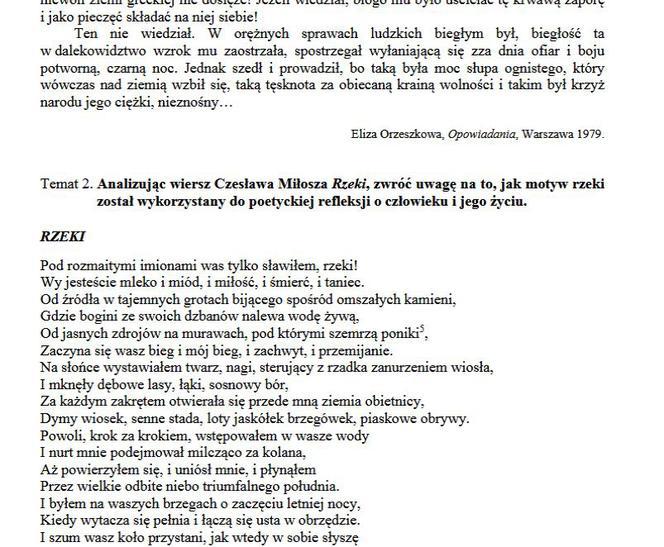 Matura 2019 Język Polski Jakie Były Lektury W Poprzednich