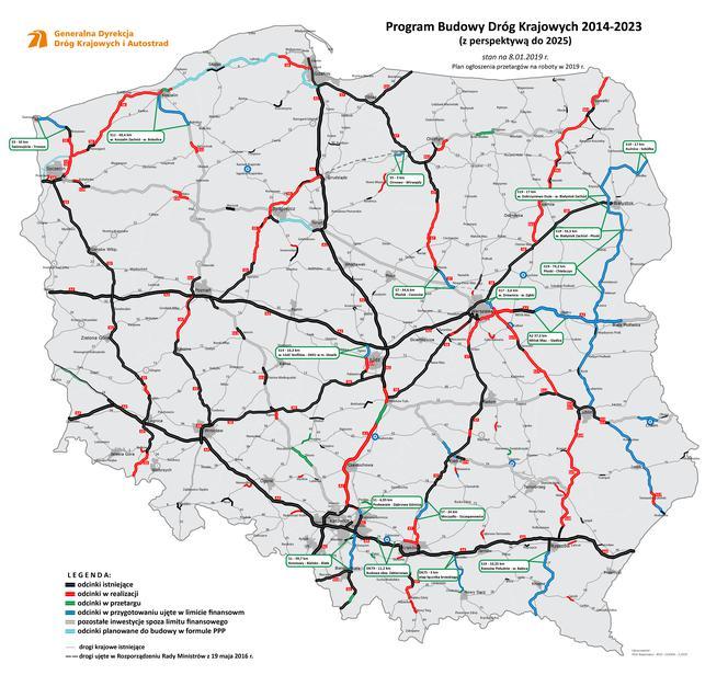 Autostrada A1 Przedostania Umowa Kamiensk Radomsko Mapa A1