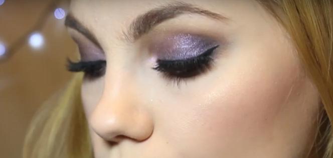 Makijaż Na Sylwestra Idealny Dla Blondynek Fioletowe Smoky Eye