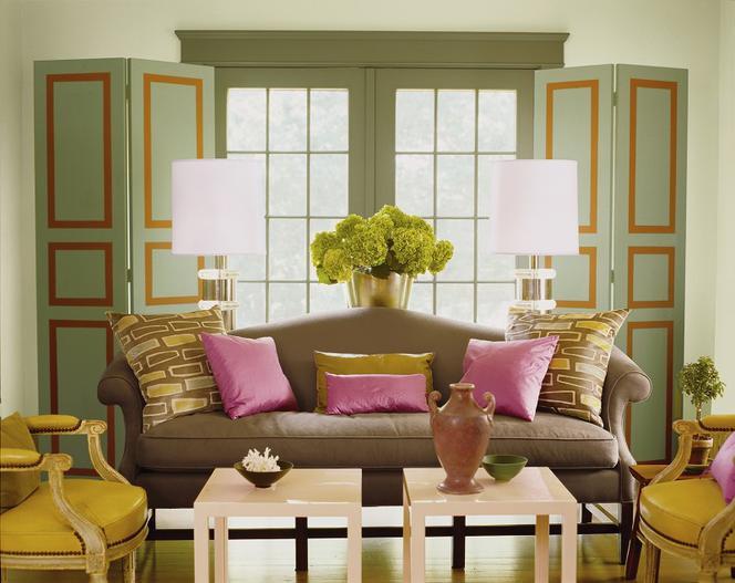 Zielony Kolor ścian I Dodatków Modne Aranżacje Wnętrz