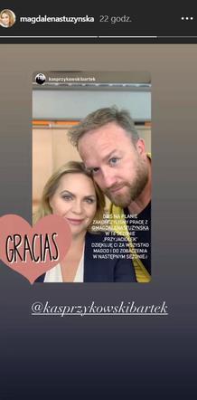Przyjaciele sezon 16: Anka (Magdalena Stużyńska), Paweł (Bartek Kasprzykowski)