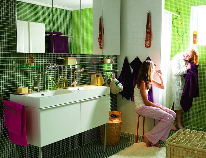 Zielona łazienka Różne Faktury Muratorpl