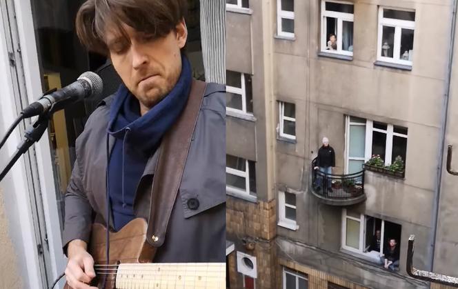 Warszawa jak Neapol: Gitarzysta daje CODZIENNE koncerty na swoim balkonie! - Super Express