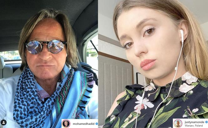 Mohamed Hadid, Justyna Monde
