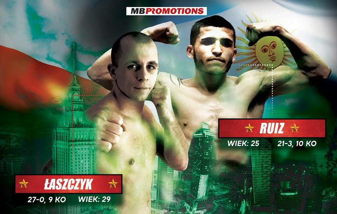 Kamil Łaszczyk vs Diego Alberto Ruiz na MB Boxing Night 7