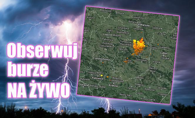 Prognoza pogody: Dziś ZAGRZMI. Gdzie jest burza? Mapa ...