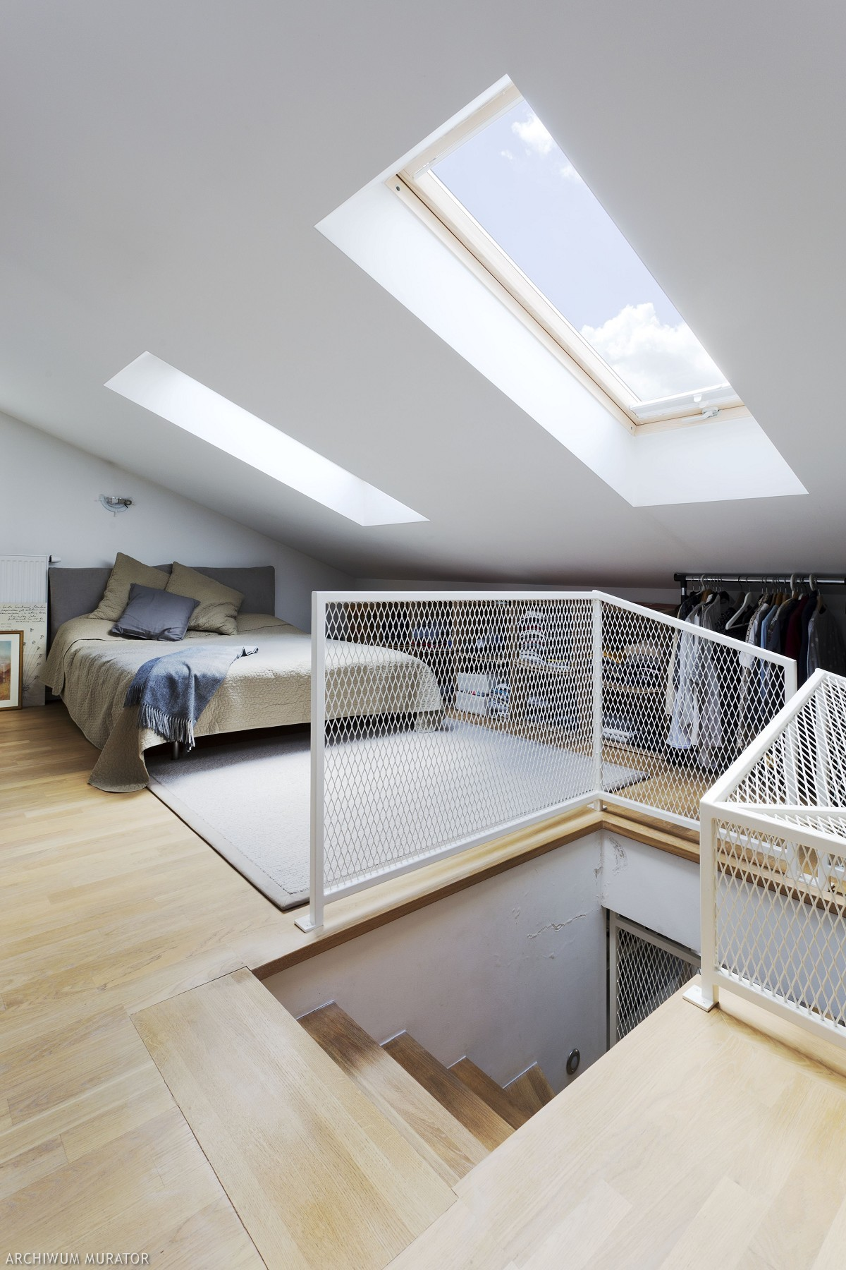 Sypialnia na antresoli