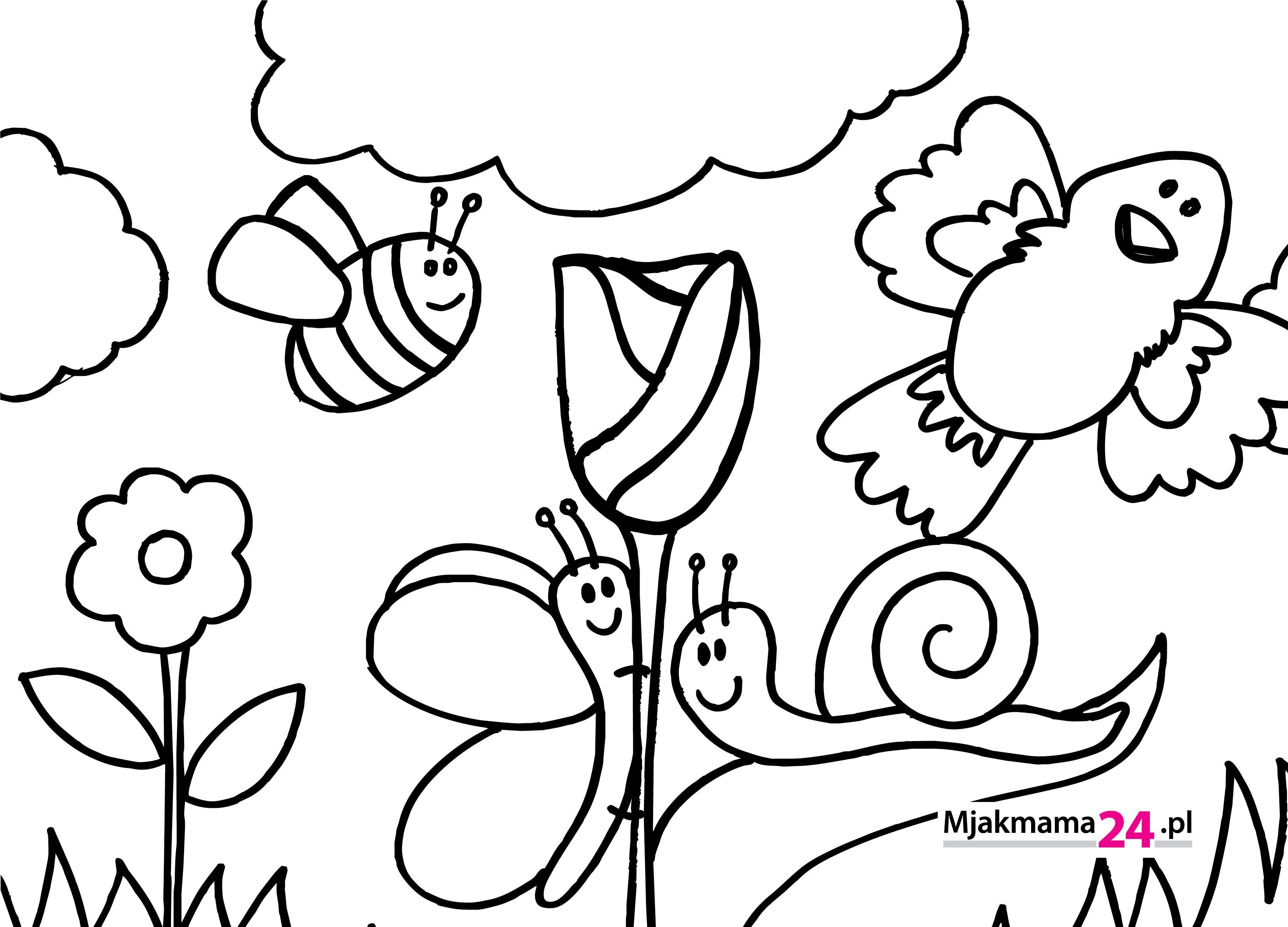 Kolorowanki Do Wydrukowania Specjalnie Na Wiosne Mjakmama Pl