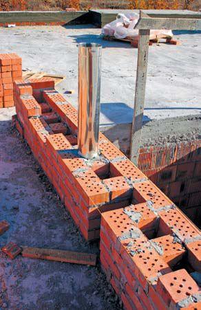 Nowość Budowa przewodu kominowego. Jak buduje się kominy spalinowe i MW06