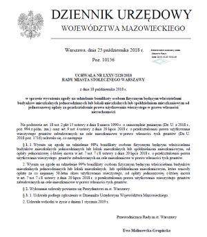 Użytkowanie Wieczyste Warszawa 98 Bonifikaty Przy Opłacie