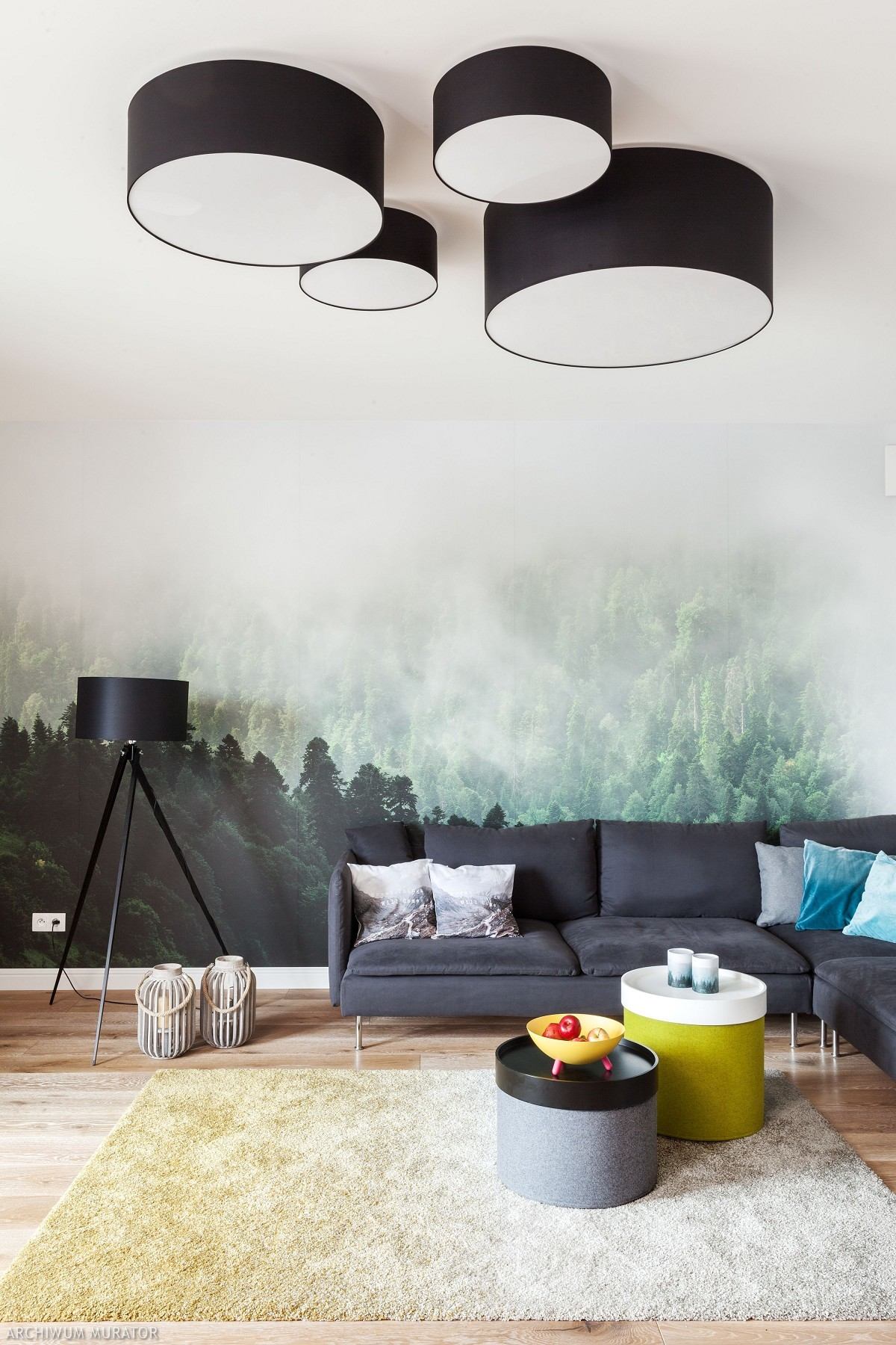lampy sufitowe w salonie muratorpl