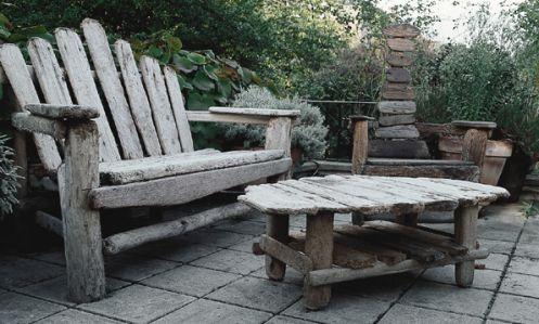 Jak Zrobić Meble Ogrodowe Z Drewna Postarzana Deska świetny