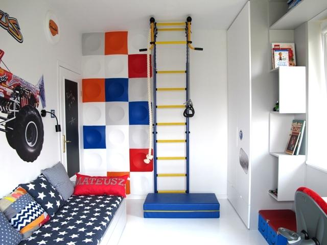 aran acja pokoju dla ch opca pomys na urz dzenie pokoju dla dw jki rodze stwa zdj cia. Black Bedroom Furniture Sets. Home Design Ideas